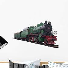 Amazon Com Wallmonkeys Gen 10100 24 Wm228015 Old Train 1920 Th Years Peel And Stick Wall Decals 24 In W X 17 In H Medium Home Kitchen