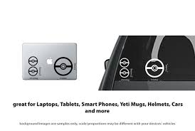 6x Pokemon Go Pokeball Vinyl Decal Sticker Car Laptop Truck Video Stickerboy Skins For Protecting Your Mobile Device