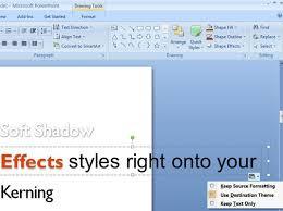 powerpoint 2007 paste options dummies