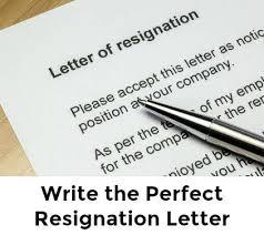 best sle resignation letter
