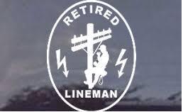 Tnt Retired Lineman Window Decal Sticker