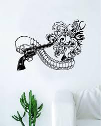 Skull Blast Decal Sticker Wall Vinyl Art Wall Bedroom Room Home Decor Boop Decals