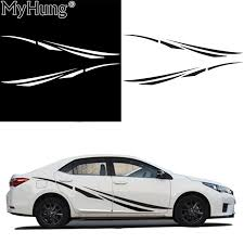 Stickers For Car For Toyota Carola Whole Body Sticker High Quality Pvc Waterproof 2pcs White Black Simple Car Decal Car Styling Sticker For Car Car Decalfor Car Aliexpress