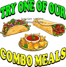 Combo Meals Decal Choose Your Size Mexican Food Concession Food Truck Sticker Concession Food Mexican Food Recipes Food Truck