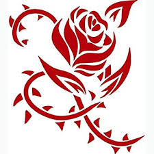 Amazon Com Keen Pretty Thorn Rose Vinyl Decal Sticker Cars Trucks Vans Walls Laptops Red 5 5 In Kcd531 Automotive