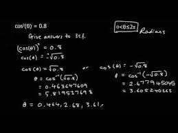solving quadratic trigonometric