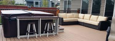 ultra modern pool patio
