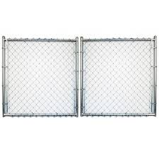 6 Ft H X 12 Ft W Vinyl Coated Steel Chain Link Fence Gate In The Chain Link Fence Gates Department At Lowes Com