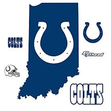 Indianapolis Colts State Of Indiana Logo Wall Decal By Fathead 2 5 W X 4 9 H Awesome Products Selected By Anna Churchill Logo Wall Wall Decals Fathead