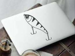 Fishing Lure Yeti Decal Die Cut Vinyl Car Decal Sticker For Etsy