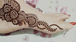 new simple one side mehndi design