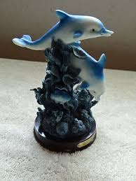 bens collection blue dolphin figurines
