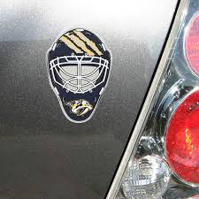 Nashville Predators Goalie Mask Auto Emblem