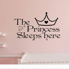 Home Wall Art Princess Sleeps Here Wall Decals Home Decor Art Quote Bedroom Wallpaper Wall Sticker Home Decals Home Decals For Decoration From Huijuanstores 13 81 Dhgate Com