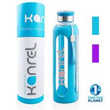 glass drinking water bottle 20 oz 32
