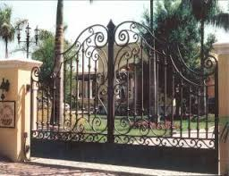 Wrought Iron Entry Gate Bottom Closed Entry Gates House Front Gate Iron Fence Gate