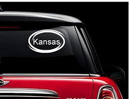 Amazon Com Kansas Window Decal Sticker For Car Truck Auto Suv Decals Stickers Bumper Window Kansas Automotive