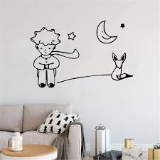 Cartoon Little Prince Environmental Protection Vinyl Stickers Wall Sticker For Kids Room Boys Girls Room Wall Decal Wall Stickers Aliexpress