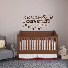 To Go To Sleep I Count Antlers Not Sheep Wall Decal Sticker Etsy