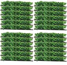 Amazon Com Yaegoo 24 Pack 10 X10 Artificial Boxwood Hedge Mat Uv Privacy Fence Screen Greenery Panel Outdoor Decor Garden Pawn Garden Outdoor