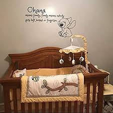 Amazon Com Ohana Means Family Vinyl Wall Decal Decor Quote By Lilo And Stitch Inspirational Quotes Vinyl Wall Decals Nursery Decor Ohana Nursery Inspired Vinyl Wall Made In Usa Kitchen