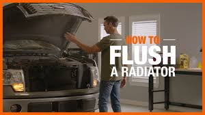 how to flush a radiator the