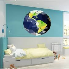 Shop Earth Polygonal Wall Decal Overstock 32114315