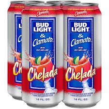 chelada bud light beer 4 pack 16 fl