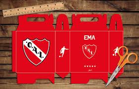 Caja Para Sorpresitas Independiente Cumple Box Party Futbol
