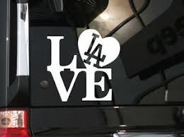 I Love La Dodgers Baseball Vinyl Car Decal Sticker 5 5 W W La Logo Ebay