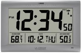 wall clock indoor outdoor temperature