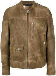 mauro grifoni brushed leather jacket