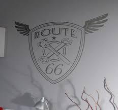 Route 66 Winged Shield Car Sticker Tenstickers