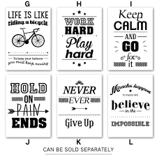 black white motivational life dream quote wall art canvas painting