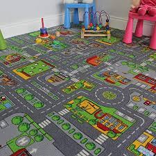 Amazon Com The Rug House Children S Play Village Mat Town City Roads Rug 200cmx200cm 6ft7 X6ft7 Home Kitchen