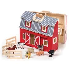 fold and go wooden barn wooden toys