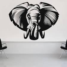 Elephant Face Head Animal Africa Decal Vinyl Sticker Wall Decor Vinylwallaccents On Artfire