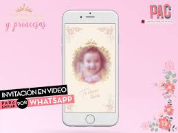 Coronas Y Princesas Invitacion En Video Para Whatsapp Pac 400