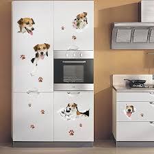 Creative Cartoon 3d Cute Dog Pvc Broken Wall Sticker Diy Removable Decor Waterproof Wall Stickers Alexnld Com