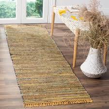 safavieh rag rug yellow multi 2 ft x 8