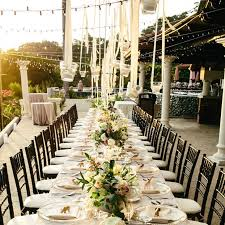 outdoor wedding reception tables