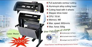 0 6m Servo Motor Cutter Plotter Machine Steel Feed Roller Vinyl Sticker Plotter