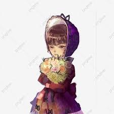 فتاة تحمل الزهور فتاة فتاة في سن المراهقة الجمال فتاة الزهور