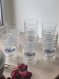 6 water glasses st yorre spa town in