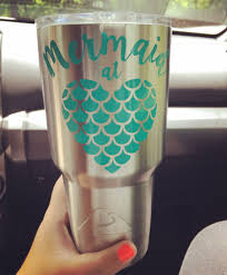 Mermaid At Heart Decal Mermaid Decal Yeti Cup Decal Etsy In 2020 Mermaid Decal Cup Decal Decals For Yeti Cups