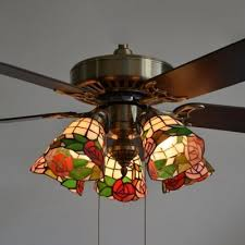 rustic stained glass semi flush mount