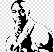 Michael Jordan Wall Decal Silhouette Drawing Black Transparent Png