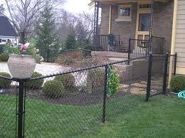 Chain Link Metal Vinyl Coated Fencing Cincinnati Northern Ky Fence Planters Small Space Gardening Black Chain Link Fence