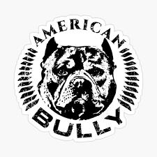 American Bully Sticker By K9printart Redbubble