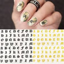 1pcs Ultra Thin Gummed Black White Gold Silver Nail Art Supplies Symbolic Number Letter Nail Sticker Decal Nails Accessories Stickers Decals Aliexpress